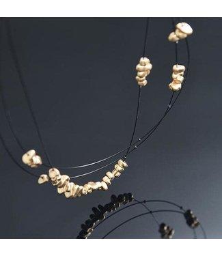 Pursuits Zetta Necklace - Gold/Black