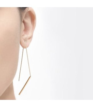 Pursuits Jagged Hoops - Gold