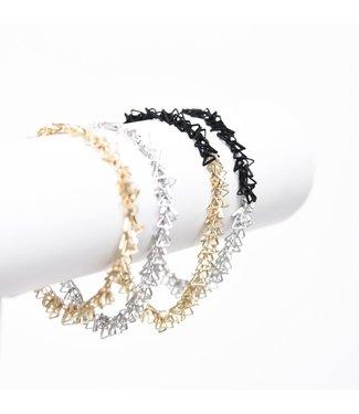 Pursuits Tri Bracelet - Gold/Black