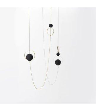 Pursuits Spindles Necklace - Silver/Black