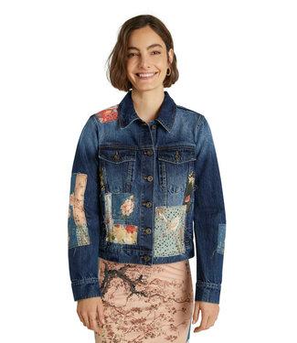 Desigual Denim Jacket with Patchwork Details