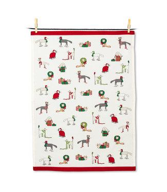Abbott Holiday Cats Tea Towel
