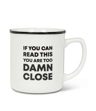 Abbott Too Damn Close Mug