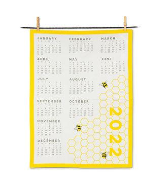 Abbott Honeycomb & Bee Calendar Tea Towel