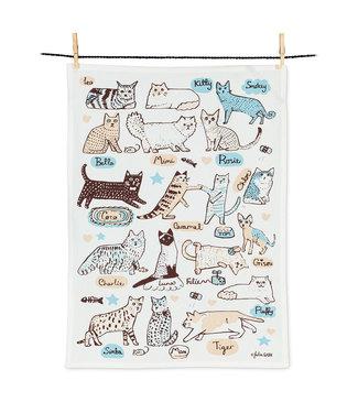 Abbott Cats with Names Tea Towel