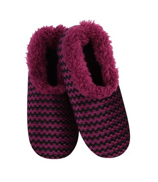 Snoozies Slippers - Burgundy Chenille