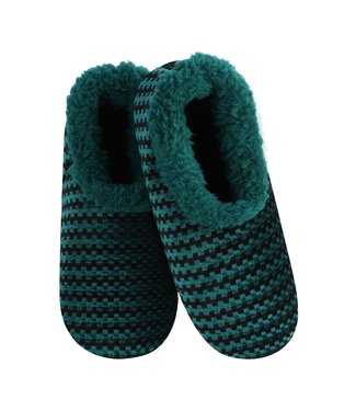 Snoozies Slippers - Teal Chenille