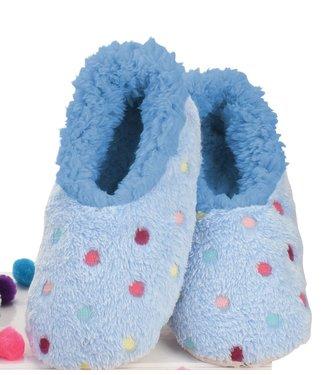 Snoozies Slippers - Lotsa Dots Blue