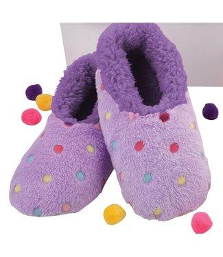Snoozies Slippers - Lotsa Dots Lavender