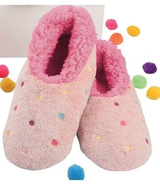 Snoozies Slippers - Lotsa Dots Peach