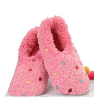 Snoozies Slippers - Lotsa Dots Pink