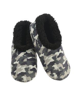 Snoozies Men's Slippers - Grey Camo
