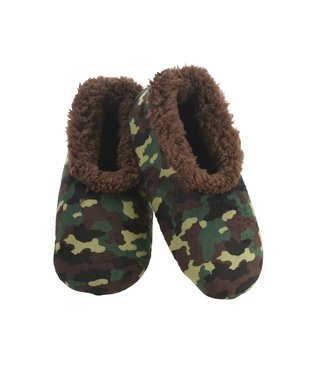 Snoozies Men's Slippers - Green Camo