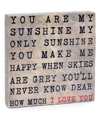 Cedar Mountain Art Block - You Are My Sunshine