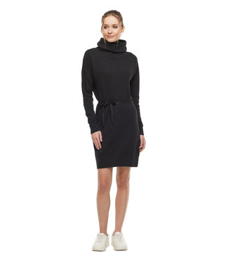 Ragwear Knit Dress with Waist Tie - Charcoal