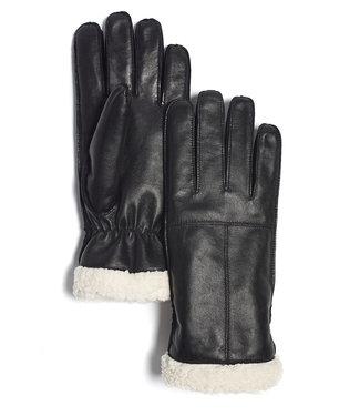 Brume World Leather Gloves w/ White Trim - Black