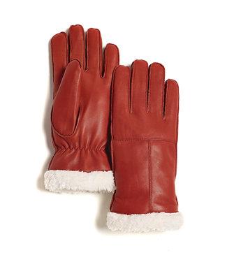 Brume World Leather Gloves w/ White Trim - Burnt Orange