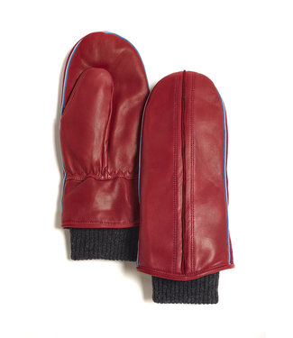 Brume World Leather Mittens w/ Cuff - Red