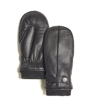 Brume World Leather Mittens w/ Snap Cuff - Black