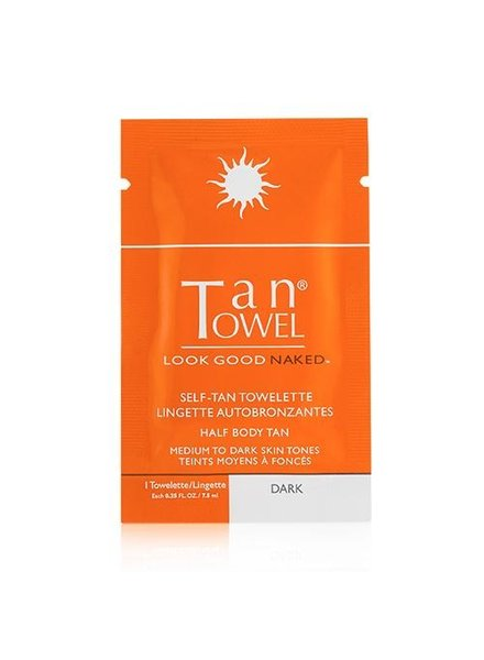 Tan Towel Tantowel Half Body Dark