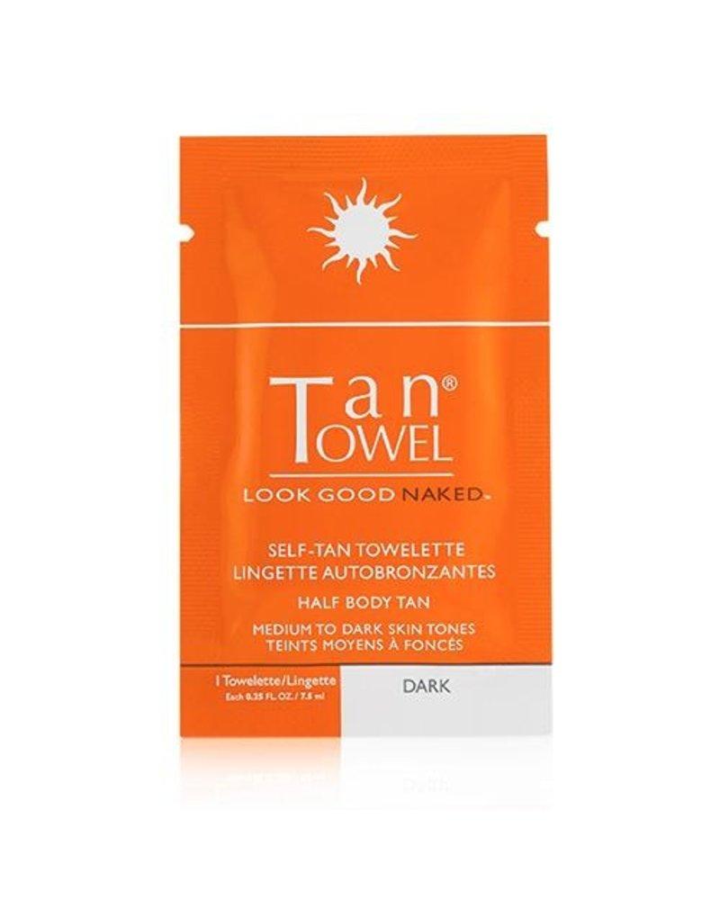 Tan Towel Tantowel Half Body Dark