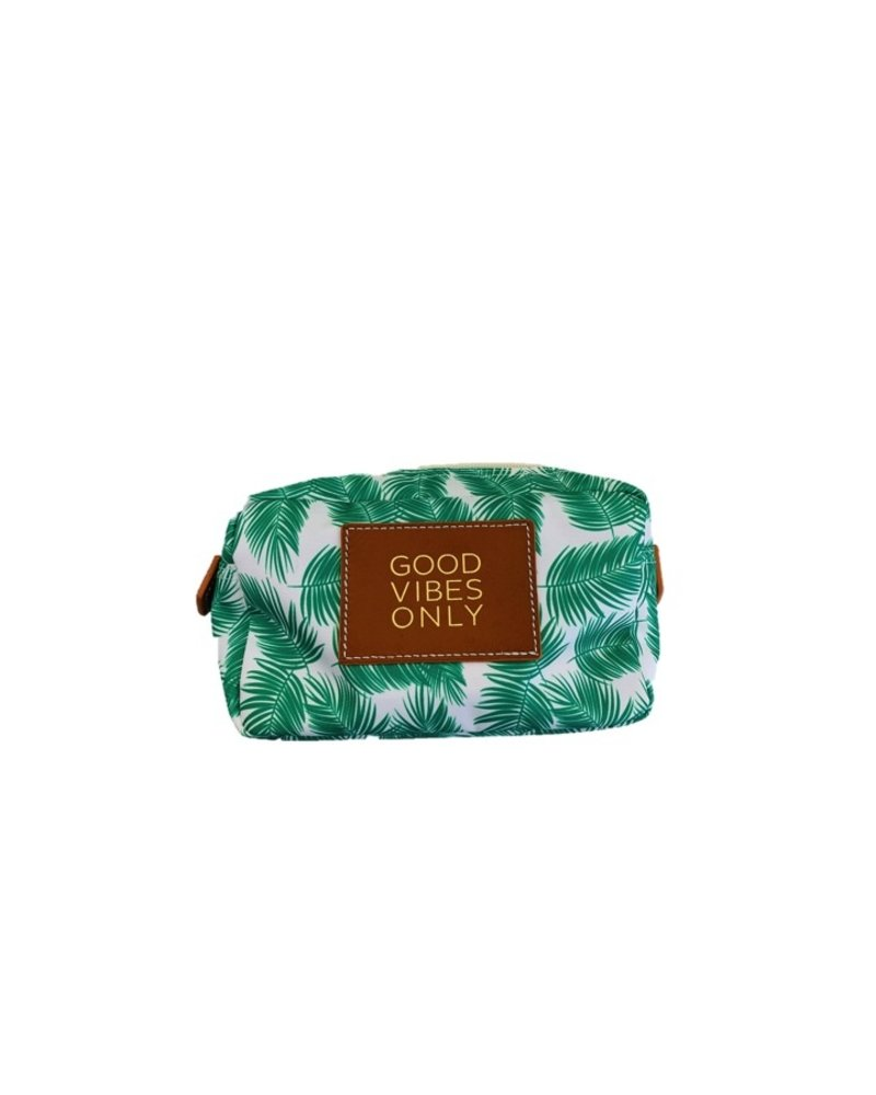 "Boulevard Billie Palms Utility Pouch ""Good Vibes Only"""
