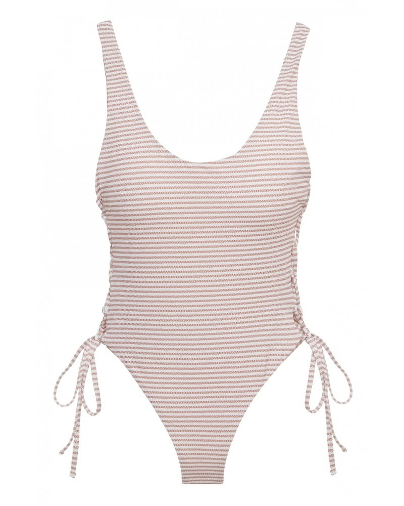Eberjey Sea Stripe Mila One Piece, Size Large