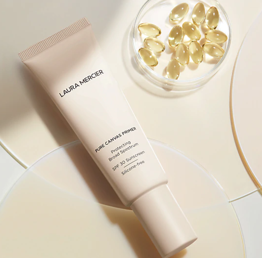 LAURA MERCIER'S NEW PURE CANVAS PRIMER PROTECTING SPF 30