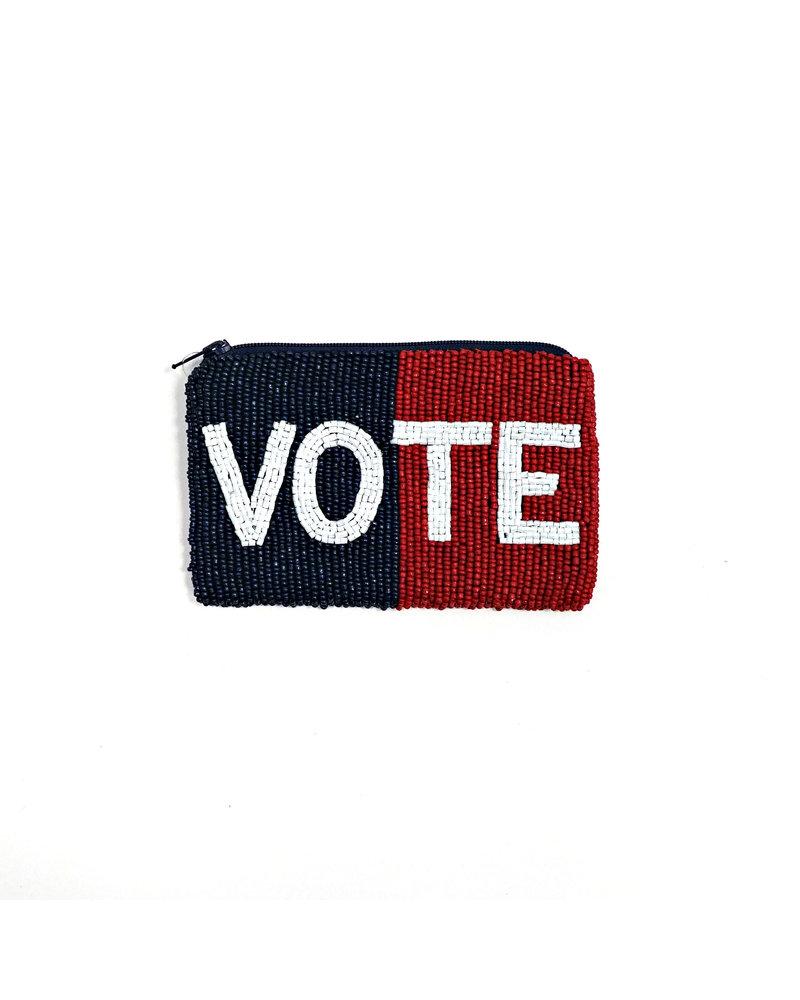 Tiana Designs Vote Small Zip