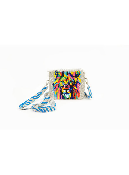 Tiana Designs Beaded Lion Bag