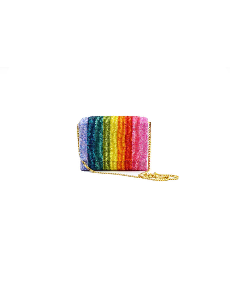 Tiana Designs Rainbow Multi Beaded Bag
