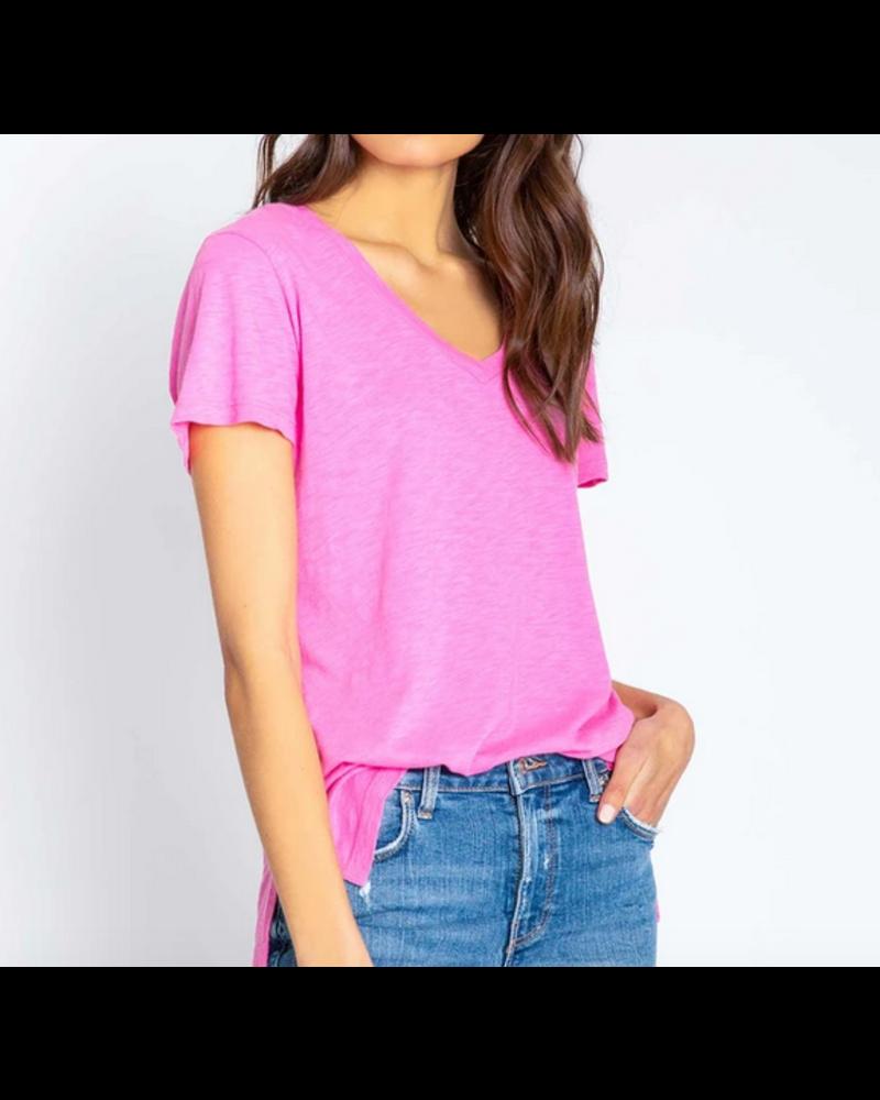 PJ Salvage Hot Pink Short Sleeve Tee
