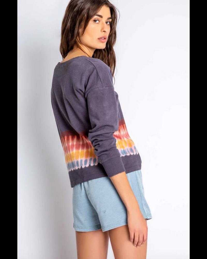 PJ Salvage Long Sleeve Charcoal Sweatshirt