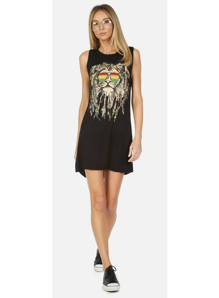 Lauren Moshi Deanna Rasta Lion Dress