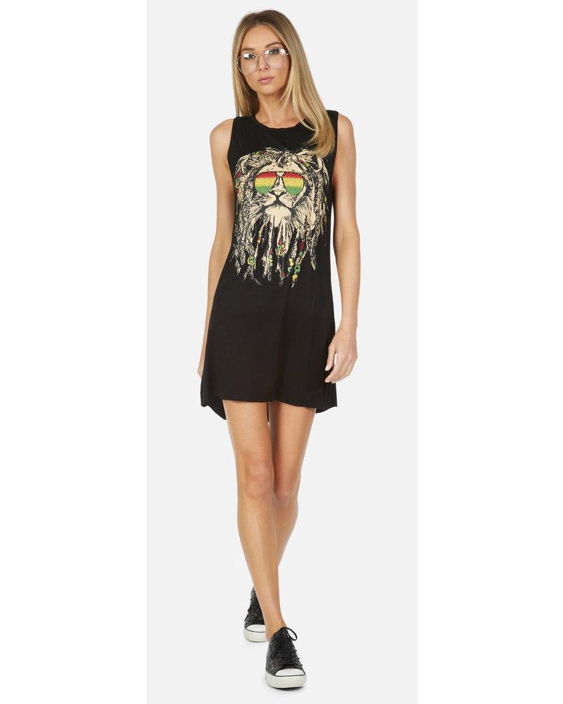 Lauren Moshi Deanna Rasta Lion Dress