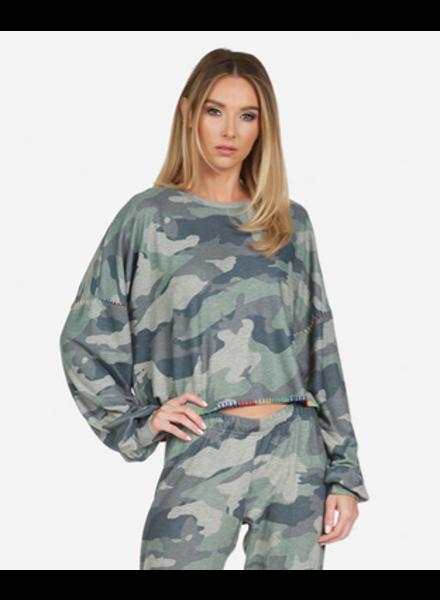 Lauren Moshi Army Camo Fairfax Pullover