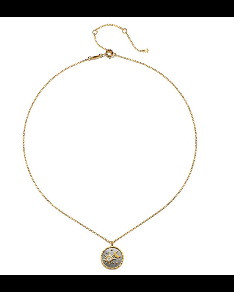 Satya White Topaz Sun Moon Necklace