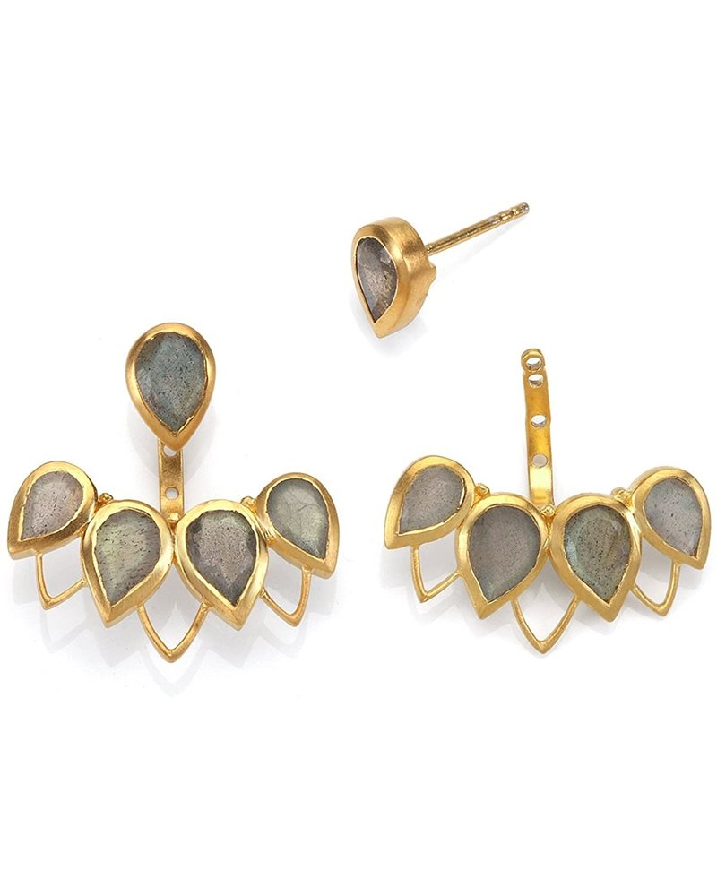 Satya Gold Petal Jacket Earrings