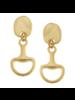 Susan Shaw Gold Horsebit Earrings