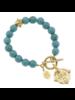 Susan Shaw Turquoise Fleur de Lis Bracelet