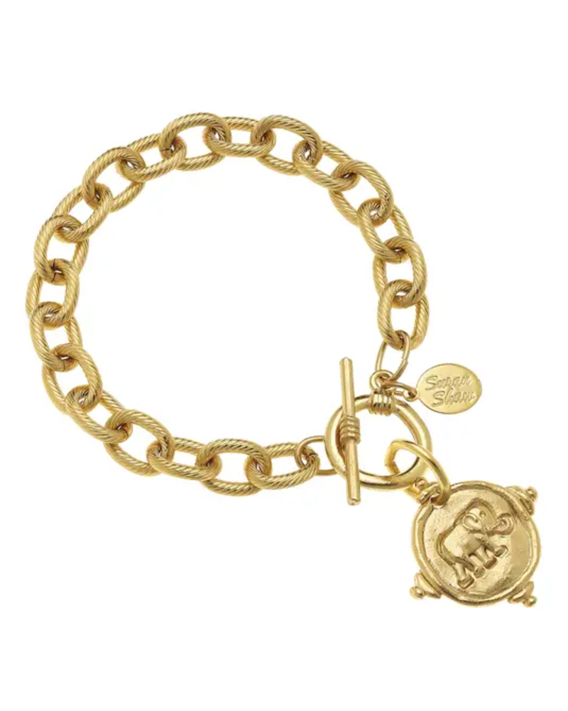 Susan Shaw Gold Elephant Bracelet