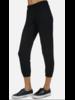 Lauren Moshi Black Ombre Crop Sweatpant