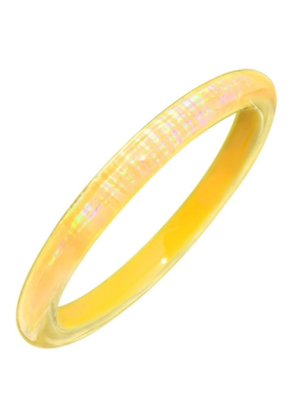 Gold + Honey Yellow Iridescent Slip On Bangle