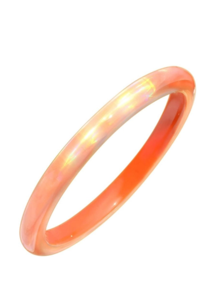 Gold + Honey Orange Iridescent Slip On Bangle