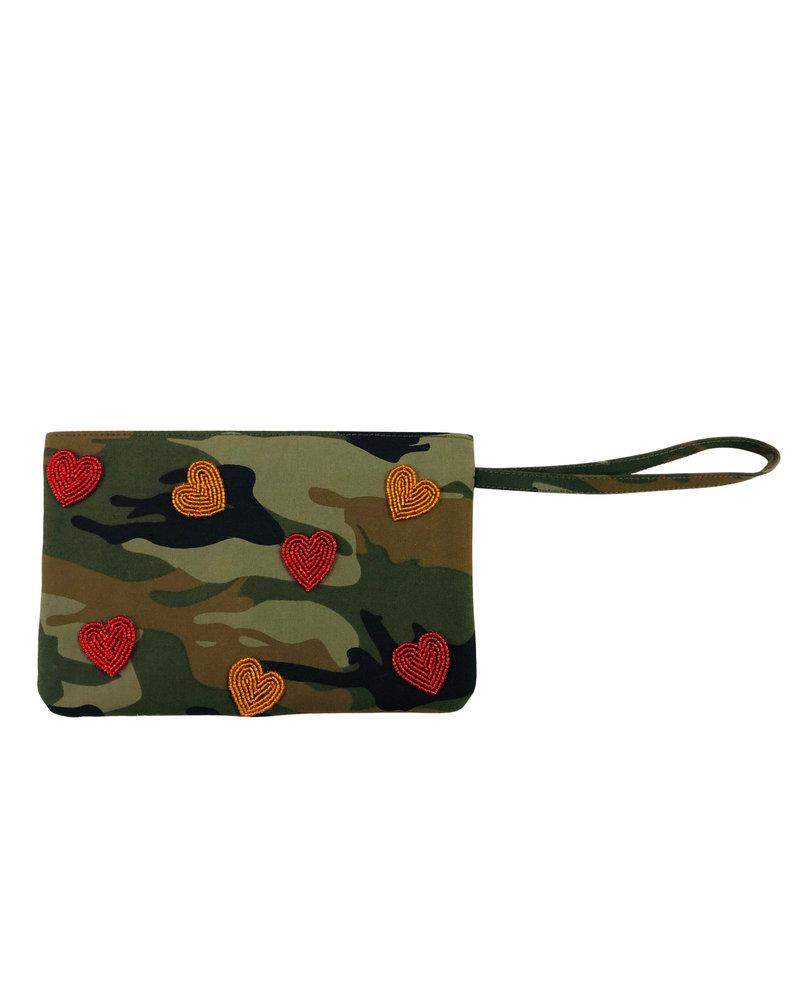 Tiana Designs Heart Camo Padded Zip Bag