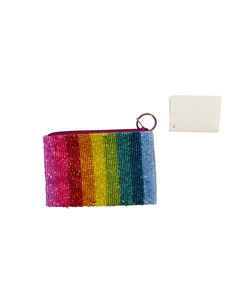 Tiana Designs Heart Rainbow Stripe Small Zip