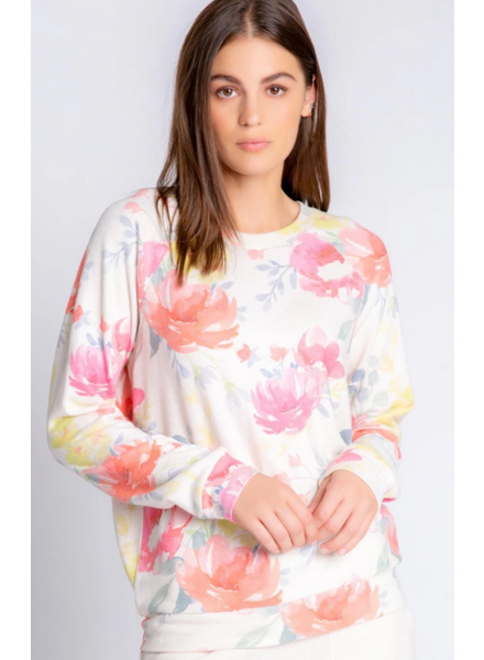 PJ Salvage Blooms Pullover