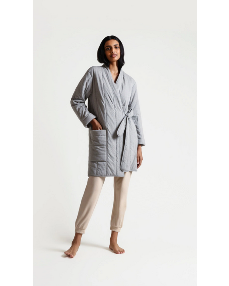 Skin Stormie Short Quilted Robe