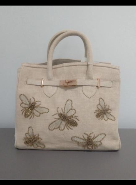 Tiana Designs Jute Bees Tote