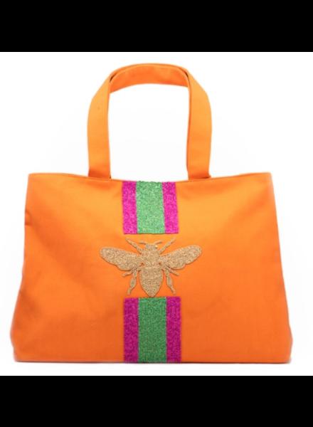 Tiana Designs Orange Stripe Bee Bag